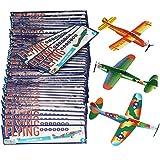 com-four 48x Aviones de Juguete de Espuma de poliestireno, planeadores...