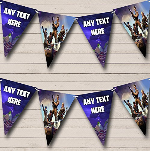 Party Banner Bunting Fortnite Game Personalised Birthday