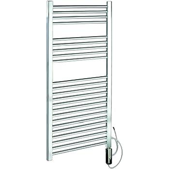 Scaldasalviette cortina elettrico bianco cm 92x48 con termostato fai da te - Scaldasalviette per cucina ...