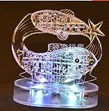 3D Crystal Puzzle 12 montierte Konstellationen basteln puzzle Spielzeug LED Licht (PISCES)