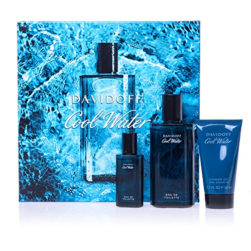 Davidoff Cool Water - Set da uomo EdT 75 ml + SG 50 ml + EdT 15 ml