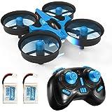 REDPAWZ Drone Enfant JJRC H36 Mini Drone avec Les Fonction sans tête, Retournement 3D,RC Quadcopter Drone Jouet Cadeau pour Enfants et Débutant - Bleu (H36 avec 2 Piles) (H36 avec 2 Piles)