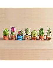 P S Retail Artificial Mini Flower Trees Miniature Plants (7pcs Set)
