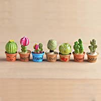 P S Retail Artificial Mini Flower Trees Miniature Plants (7pcs Set)