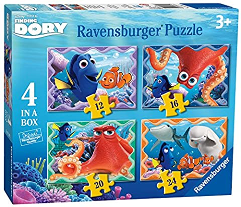 Ravensburger 7399Disney Dory 4dans une boîte Puzzles–12, 16, 20et