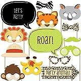 #6: Funfari Fun Safari Jungle Piece Photo Booth Props Kit 20 Count