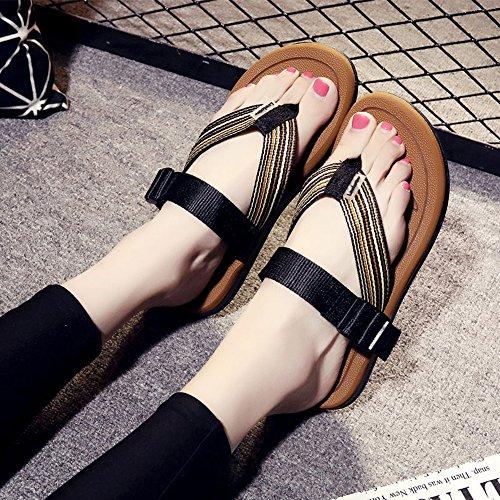 Sommer sandalen, Frauen / Wohnungen Sommer Komfort Lässig Flache Ferse Flip-Flops für Strand Farbe / Größe optional ( Farbe : 1002 , größe : EU39/UK6.5/CN40 ) 1002