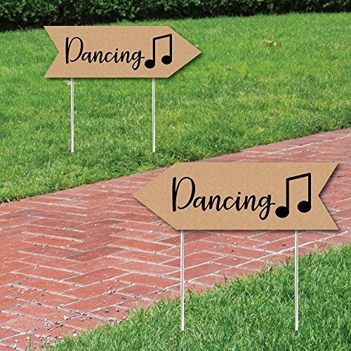Big Dot of Happiness Rustikal Hochzeit Dance Schilder-Hochzeit Schild Pfeil-Doppelseitige gerichtete Yard Schilder-Set von 2Dancing Schilder Dance Dot