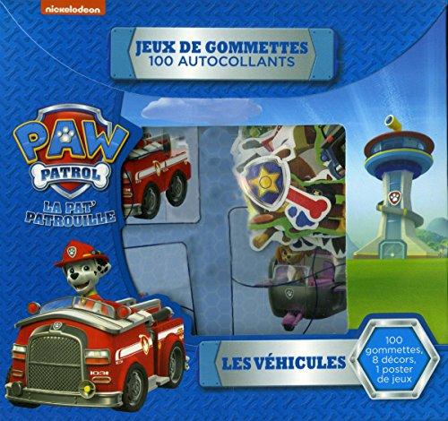 Les véhicules - La Pat' Patrouille - Jeux de gommettes 100 autocollants