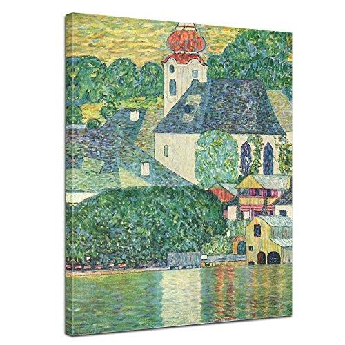 Bilderdepot24 Kunstdruck - Alte Meister - Gustav Klimt - Die St. Wolfgang-Kirche - 40x50cm Einteilig - Leinwandbilder - Bilder als Leinwanddruck - Bild auf Leinwand - Wandbild