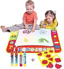 Tappeto Colorabile Magico Doodle (80cmx60cm)Con 4 pennarelli ,AEVEA per Disegnare con Pennarelli ad Magia Doodle cibo Disegno cibo