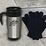 Paladone Products Scott and Lawson Travel Mug and Gloves Set, Stainless Steel, Multi-Colour, 19.3 x 12.5 x 8.6 cm