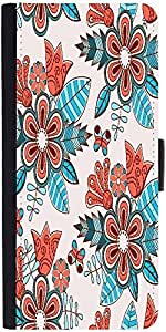 Snoogg Abstract Floral Backgrounddesigner Protective Flip Case Cover For Sony...