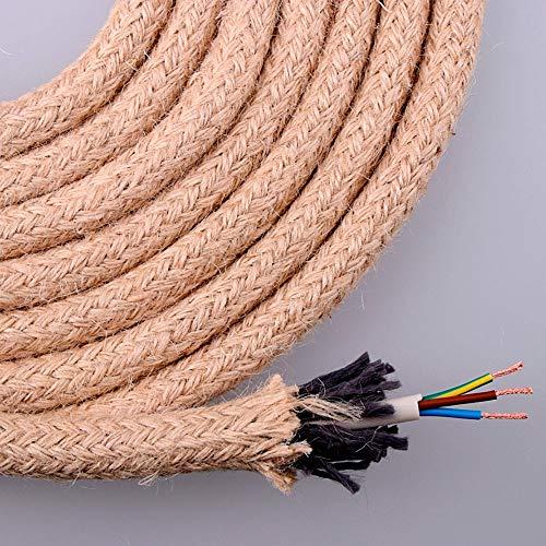 EDM Kabel Jute rund 3x0.75 ø14mm 20m