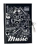 Avenue Mandarine Tagebuch für Jungen Musik, Schwarz/Weiß
