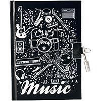 Avenue Mandarine Diario para niños música Cubierta, Color Negro/Blanco