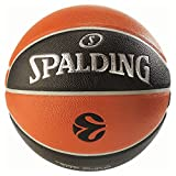 Spalding Basketball Euroleague TF500 In/Out 74-539Z, Orange, 7, 3001513010317