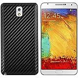 kwmobile Coque carbon pour batterie aspect carbone pour Samsung Galaxy Note 3 en noir - Assortie au design de votre Samsung Galaxy Note 3