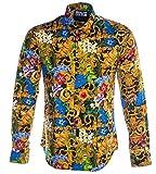 Versace Jeans Couture Chemise Homme Multicolore B1GVA6S3-VUP201 Slim Print All Over Multicolore Noir 50