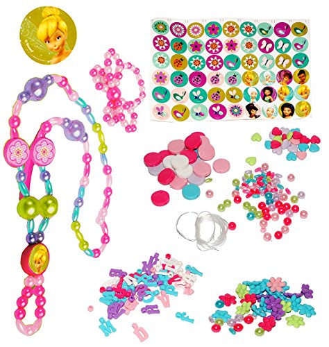 Schmuck - Armbänder & Ketten -  Disney Fairy - Tinkerbell  - incl. Buchstaben fü Namen - für Kinder - Mädchen - Kinderschmuck - Perlen - Set Kett.. ()