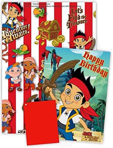 Disney Jake und die Nimmerland Piraten mit Geburtstagskarte, Geschenkpapier und ()
