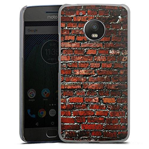 DeinDesign Motorola Moto G5 Hülle Case Handyhülle Backstein Steinwand Steine Rot (Motorola-backstein-handy)