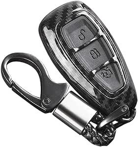 Carrfan Carbon Remote Key Fob Hülle Für Fords Focus Fiesta Kuga C Max Auto