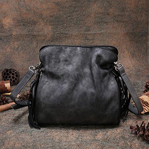 Nouveau style rétro en cuir sac à main bandoulière en cuir Messenger sac par sac à main sac à dos original Gray