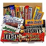 Caja de Chocolate Americano | Surtido de 18 artículos incluido Hersheys Reeses Baby Ruth Butterfinger | En una Caja de Regalo del Caramelo Retro