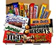 American Chocolate Candy Hamper - Reeses, Hersheys, Peanut Butter, Butterfinger, Baby Ruth - American Sweets Gift Selection Box
