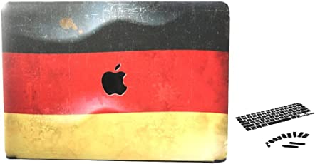 Brain Freezer Germany Flag Printed Design Hard Cover Case Laptop Case for MacBook air 13 inch + Keyboard Cover + Dust Plugs