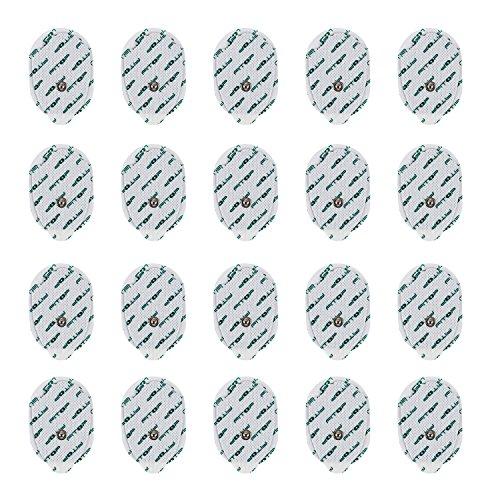 FITOP 20 Stück 3.5mm Handförmige Elektroden Pads mit Super Gel für TENS EMS Muskelstimulatoren