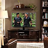 RFIVER Universal Pedestal Table Top TV Stand /TV Bracket /TV riser/TV base with Swivel Height Adjustable for 32 to 50 inch LCD LED OLED TVs Black UT2002