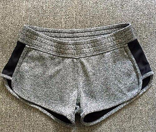 QIYUN.Z Les Femmes D'Ete Vetements Femmes Pantalon Court De Yoga Le Sport Short Court Gymnase Mode Gris