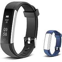 Muzili Smart Fitness Band IPX7 Waterproof Fitness Tracker Watch Pedometer Distance Calorie Counter Sleep Monitor Call Message Alert 10 Alarm Clock for Men Women Boys Girls