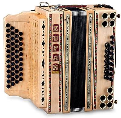 Zupan Eco 4/III Harmonika G-C-F-B Erle (46 Diskant, 16 Bass, 8 Helikon, Knopf-Akkordeon) Holz natur