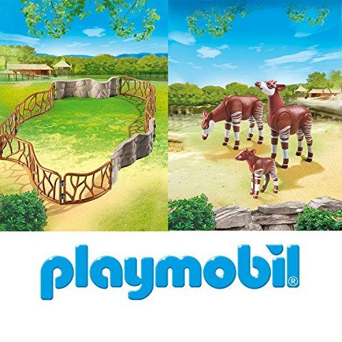 Playmobil Zoo - Okapis mit Baby im Freigehege - 6656 6643