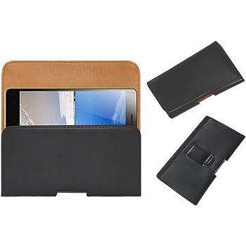 ACM Belt Holster Leather Case for Lenovo K3 Note Mobile Cover Holder Clip Magnetic Closure Black