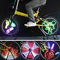 Bazaar 96 rgb LED bici bicicletta luce ruota bicicletta LED bicicletta luce ha parlato della lampada della bici