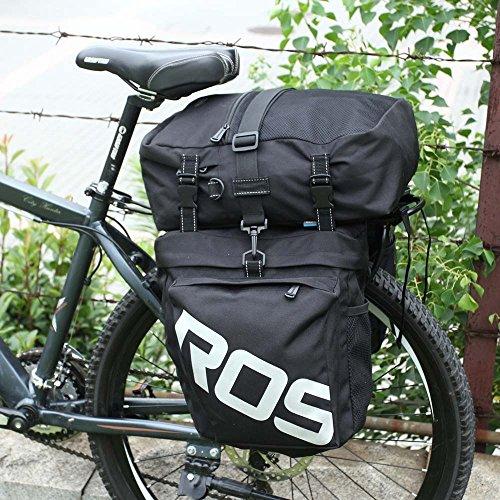 Lixada 3 in 1 Multifunction 30L Road MTB Mountain Bike Bag Bicycle Pannier Rear Seat Trunk Bag (Road Bike Bag)