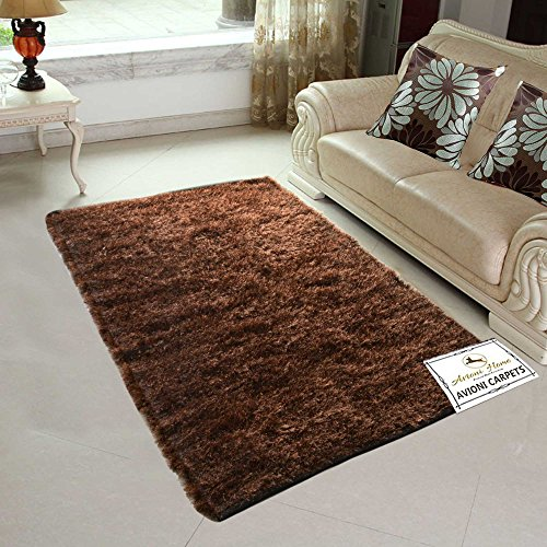 Avioni Handloom Rugs Carpets For Living Room In Fur Reversible -4 Feet...