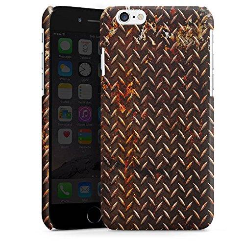 Apple iPhone 5s Housse étui coque protection Rouille Look Métal marron Cas Premium brillant