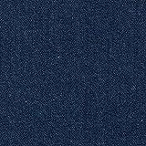 Vorgewaschener Denim, Jeansstoff jeansblau (9,2 oz),