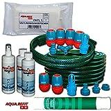 Wasserbetten Befüllschlauch Entleerschlauch für DUAL Wasserbett + 2x Conditioner + Vinylreiniger + Entlüfter