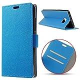 MSK® Schutzhülle HTC U Ultra Hülle, Handyhülle Klappetui Brieftasche HTC U Ultra Ledertasche - [Kartenfächer] [Standfunktion] [Brieftasche] Schutzhülle Tasche mit Kartenfach Aufstellfunktion Magnetverschluss- blau