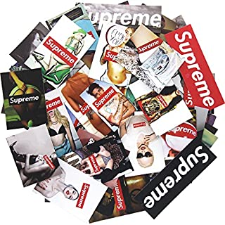50 Stücke Supreme Aufkleber Wasserdicht Vinyl Aufkleber für Snowboard Skateboard Laptop Auto Skateboard Gepäck Fahrrad Autoaufkleber Hippie Decals