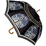 Laurel Burch Polka Dot Cats` Stick Umbrella