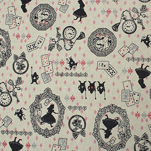 Souarts Textile Tissu Coton Lin pr Bricolage Patchwork Couture Beige 150cmx100cm 1Pc