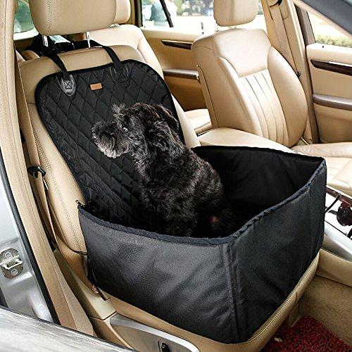 Ardermu 2 in 1 Pet Sitzbezug - Auto Pet Front Sitzbezug Einzelsitz - Car Booster Sitz für Hund Katze Portable und Atmungsaktive Tasche mit Sitz -