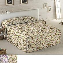 Edredón Conforter Modelo Katia, Color Marrón, para Cama de 105